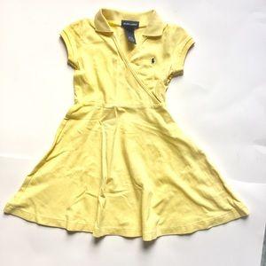 5/25 Ralf Lauren Toddler Girl yellow summer dress
